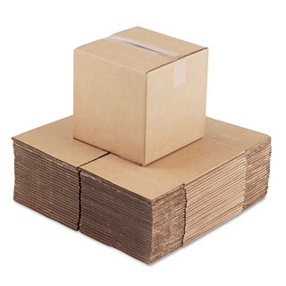 General Supply Brown Corrugated - Cubed Fixed-Depth Shipping Boxes 10-inch long x 10-inch wide x 10-inch high 25/Bundle