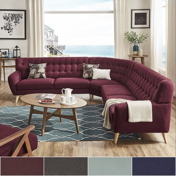 Niels Danish Modern Tufted Fabric 7-seat L-Shaped Sectional iNSPIRE Q Modern : l shaped sectional - Sectionals, Sofas & Couches