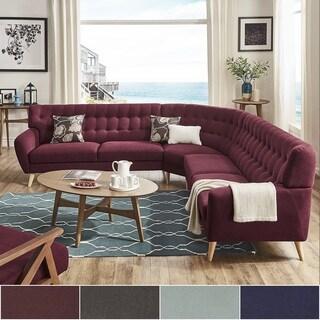 Niels Danish Modern Tufted Fabric 7 Seat L Shaped Sectional INSPIRE Q Modern