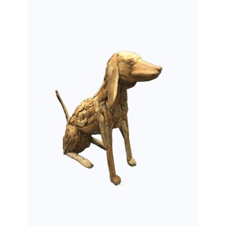 Handmade D-Art Drift Wood Dog Statue (Indonesia)