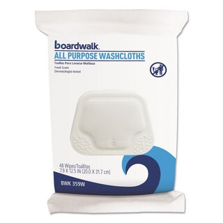 Boardwalk Premoistened Washcloths 12 1/2 x 7 9/10 Fresh Scent 48/Pack 6 Packs/Carton