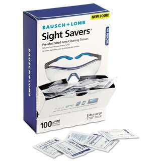 Bausch & Lomb Sight Savers Premoistened Lens Cleaning Tissues 100/Box 10 Boxes/Carton