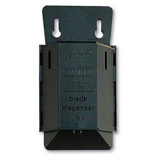 Stanley Wall Mount Utility Knife Blade Dispenser with Blades 100/Pack