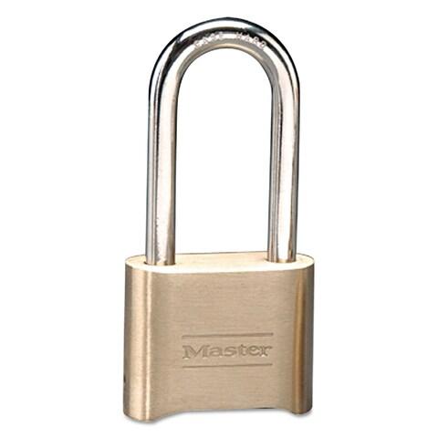 Master Lock Resettable Combination Padlock Brass 2-inch Brass Color 6/Box