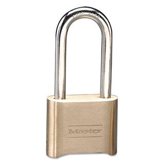 Master Lock Resettable Combination Padlock Brass 2-inch Brass Color 6/Box