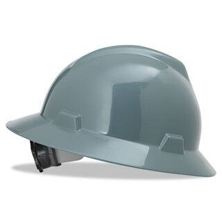 MSA V-Gard Full-Brim Hard Hats Ratchet Suspension Size 6 1/2 - 8 Grey|https://ak1.ostkcdn.com/images/products/14004721/P20627133.jpg?impolicy=medium