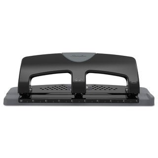 Swingline 20-Sheet SmartTouch Three-Hole Punch 9/32-inch Holes Black/Grey