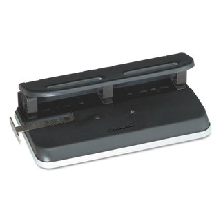 Swingline 24-Sheet Easy Touch Two-to-Seven-Hole Precision-Pin Punch 9/32-inch Holes Black