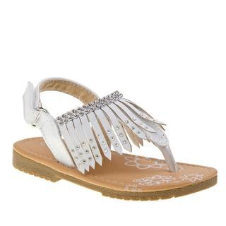 Petalia Girl Toddler White Polyurethane Sandal