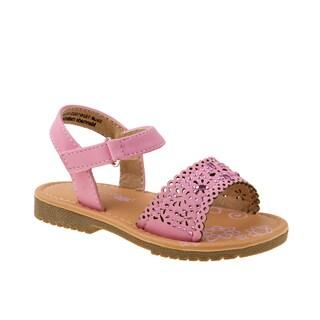 Petalia Girls' Pink Polyurethane Sandals