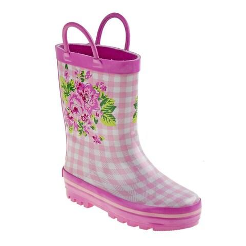 Laura Ashley Girl's Pink Polyurethane Mid-calf Rainboots