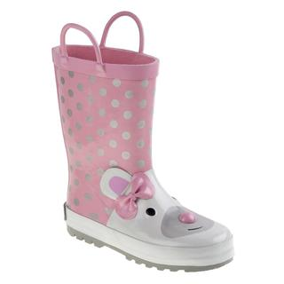 Laura Ashley Girls' Pink Polyurethane Rainboots