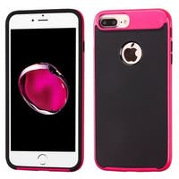 Insten Black/ Pink Hard Snap-on Dual Layer Hybrid Case Cover For Apple iPhone 7 Plus