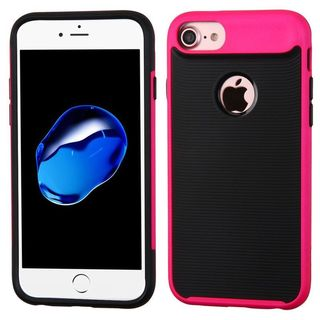 Insten Black/ Pink Hard Snap-on Dual Layer Hybrid Case Cover For Apple iPhone 7