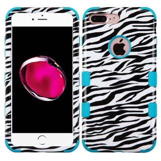Insten White/ Black Zebra Tuff Hard PC/ Silicone Dual Layer Hybrid Rubberized Matte Case Cover For Apple iPhone 7 Plus