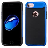 Insten Black/ Blue Hard Snap-on Dual Layer Hybrid Case Cover For Apple iPhone 7