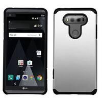 Insten Silver/ Black Hard Snap-on Dual Layer Hybrid Case Cover For LG V20