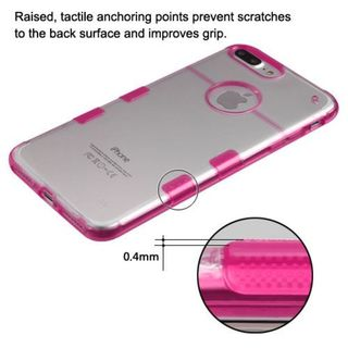 Insten Clear/ Hot Pink Hard Snap-on Crystal Case Cover For Apple iPhone 7 Plus