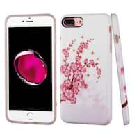 Insten Pink/ White Spring Flowers TPU Rubber Candy Skin Case Cover For Apple iPhone 7 Plus