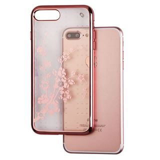 Insten/ Rose Gold Spring Flowers TPU Rubber Candy Skin Case Cover For Apple iPhone 7 Plus