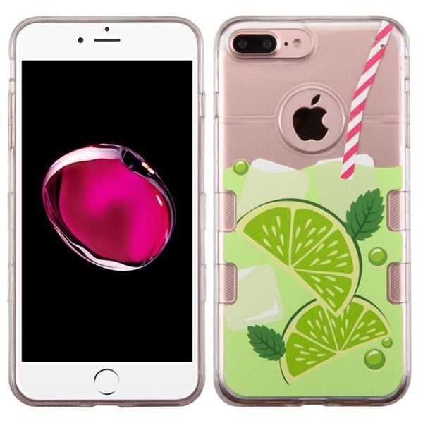 Insten Clear/ Green TPU Rubber Candy Skin Case Cover For Apple iPhone 7 Plus