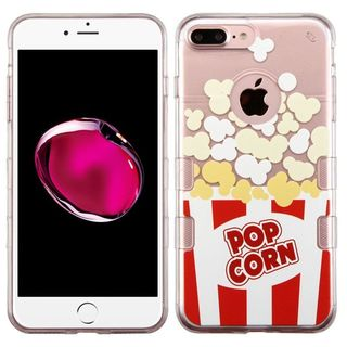Insten Red/ White TPU Rubber Candy Skin Case Cover For Apple iPhone 7 Plus