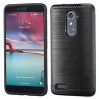 Insten Black Hard Snap-on Dual Layer Hybrid Case Cover For ZTE Zmax Pro