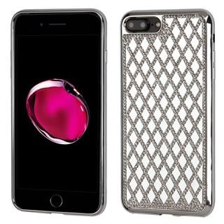 Insten Silver Hard Snap-on Diamond Bling Case Cover For Apple iPhone 7 Plus
