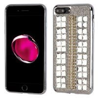 Insten Silver Hard Snap-on Rhinestone Bling Case Cover For Apple iPhone 7 Plus