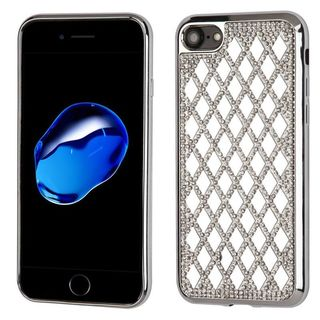 Insten Silver Hard Snap-on Diamond Bling Case Cover For Apple iPhone 7