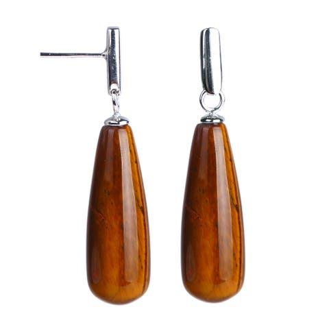 0fbf9f152f8c Buy Tigers Eye Gemstone Earrings Online at Overstock | Our Best ...