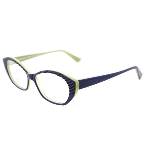 Lafont Tarentelle 3072 Blue Lime Plastic Cat-Eye Eyeglasses 53mm