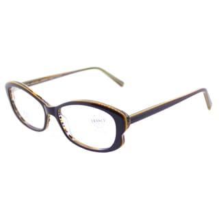Lafont Theodora 7055 Navy Brown Plastic Cat-Eye Eyeglasses 53mm