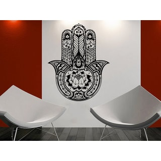 Wall Decals Yoga Fatima Hand Hamsa Indian Buddha Ganesh Decal Lotus Vinyl Sticker Bedroom Sticker De