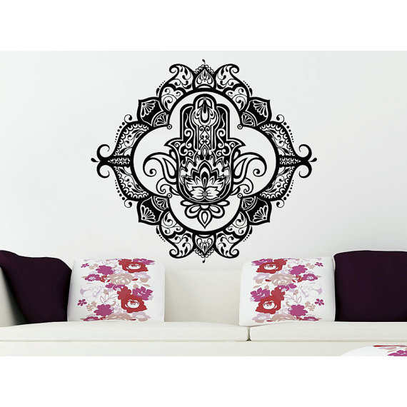 111016d0f7 Shop Wall Decals Yoga Fatima Hand Hamsa Indian Buddha Ganesh Decal Lotus Sticker  Decal size 33x33 - Free Shipping Today - Overstock - 14005721