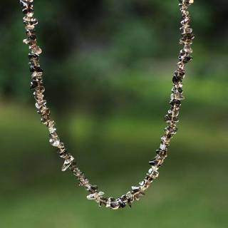 Handcrafted 'Brazilian Mystique' Smoky Quartz Necklace (Brazil)