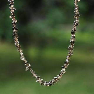 Handmade 'Brazilian Mystique' Smoky Quartz Necklace (Brazil)