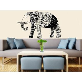 Elephant Wall Decal Stickers- Elephant Yoga Indie Wall Art Bedroom Dorm Nursery Boho Sticker Decal s