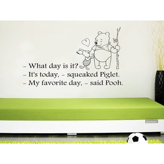 Quote Winnie the Pooh I used to believe in forever Nursery Baby Room Kids Sticker Decal size 33x45 C