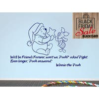 Quote Winnie the Pooh I used to believe in forever Nursery Baby Room Kids Sticker Decall size 48x65 Color Black