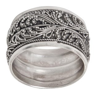 Handcrafted Sterling Silver 'Strand of Nature' Ring (Indonesia)