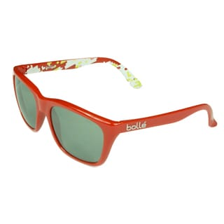 Bolle Fashion Red Plastic Frame Grey TNS Lens Sunglasses