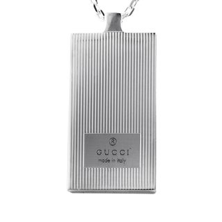 Gucci Women's Sterling Silver Ridged Pendant Necklace