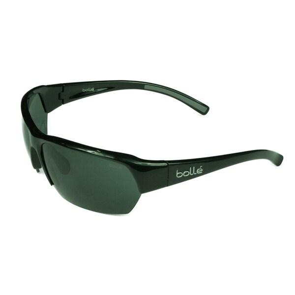 c6952f68a90 Shop Bolle Men s Ransom Shiny Black Gray Lens Sunglasses - Free ...