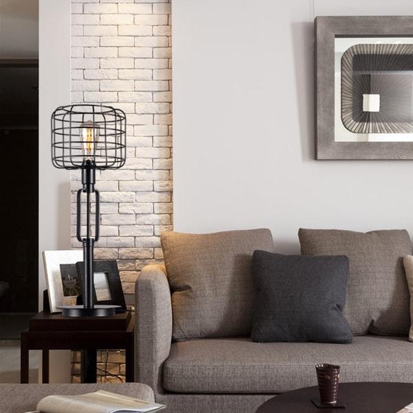 Gimbane Cage Shade Table Lamp