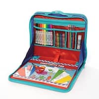 EZ Desk Model T100 Drawing and Crafting Laptop-style Travel Activity Kit