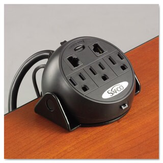 Safco Power Module 3 Outlets 2 RJ-45 Ports 8 ft Cord