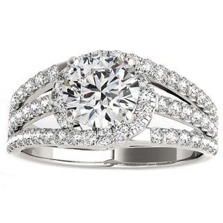 Transcendent Brilliance 14K Gold 1 1/4ct TDW Diamond Halo Engagement Ring (G, VS2)
