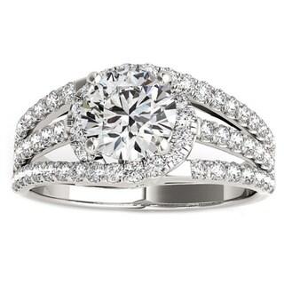 Transcendent Brilliance 14k White, Rose, or Yellow Gold 1 2/5ct TDW White Diamond Classic Engagement Ring (F-G, VS1-VS2)