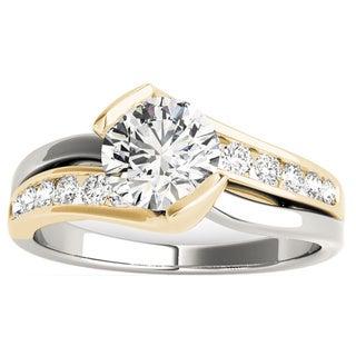 Transcendent Brilliance Modern 14K Gold 1 1/10ct TDW Diamond Engagement Ring (G, VS2)